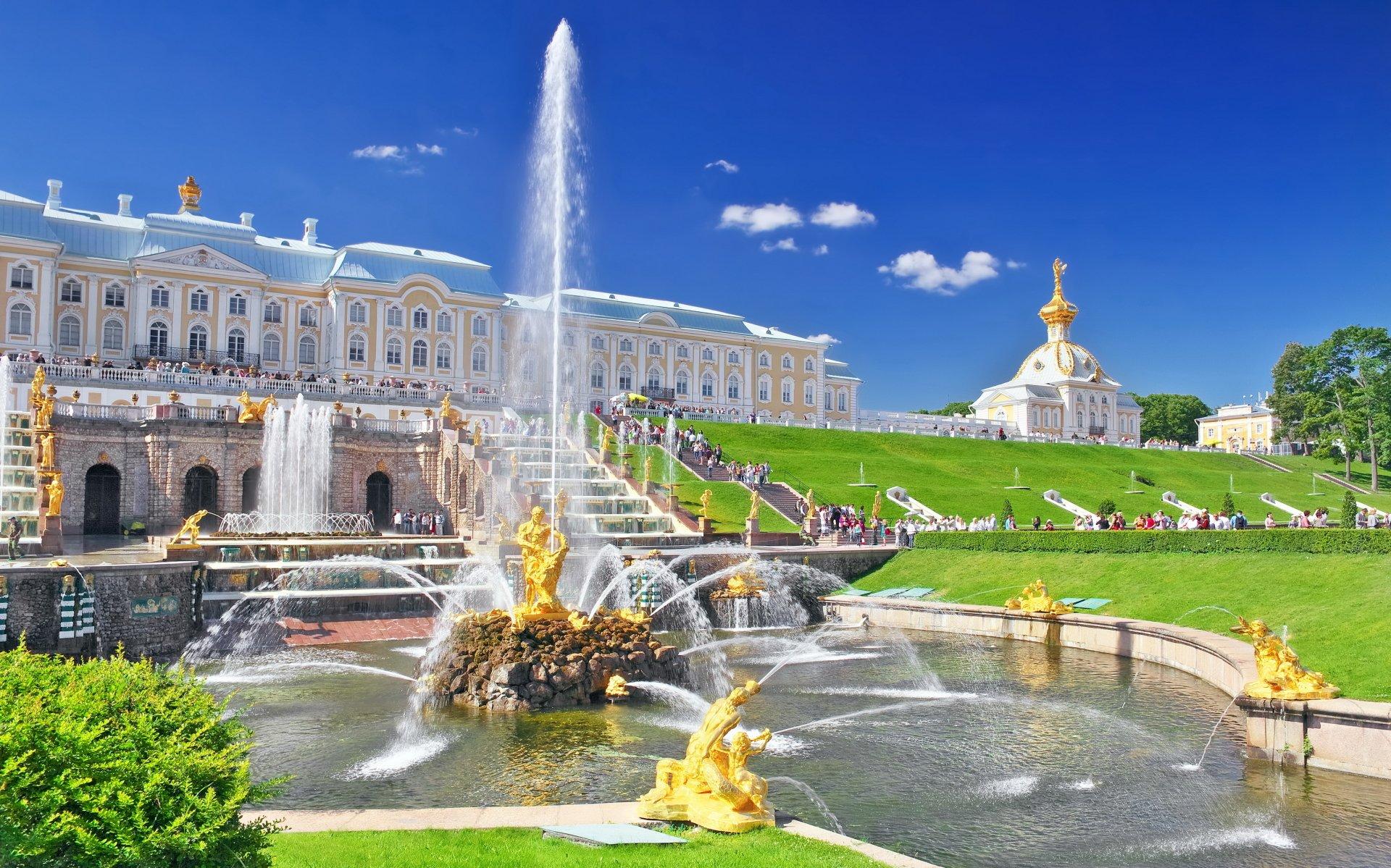 Excursión por jardines y fuentes de Peterhof