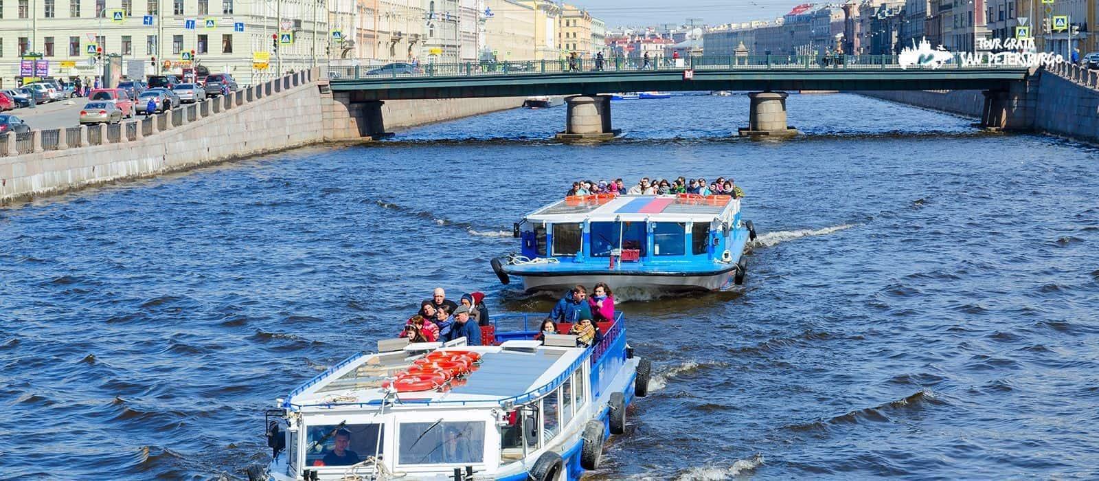Excursión en Barco por los canales de San Petersburgo