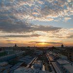 Sobre las azoteas de San Petersburgo
